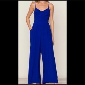 Royal blue Yumi Kim jumpsuit (Anthropologie)
